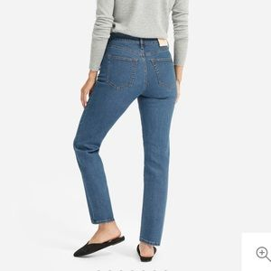 EVERLANE stretch high rise cigarette jeans